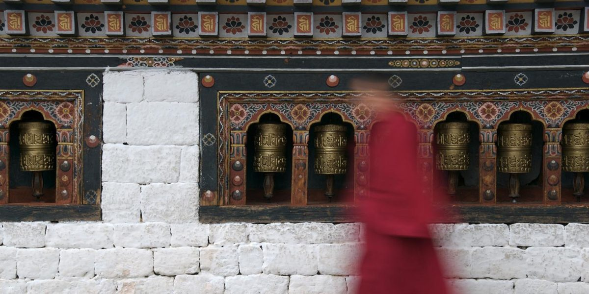 Wander in the ancient temple of Bhutan and learn about Buddhism