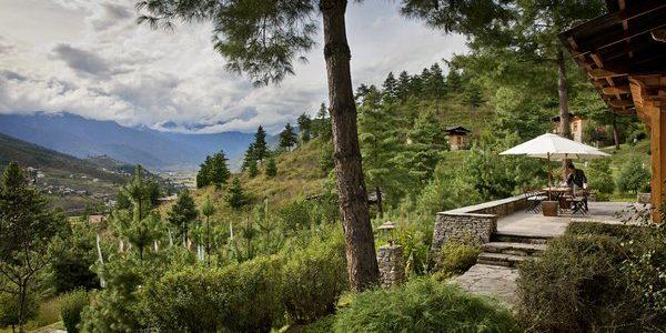 Uma, Paro, private terrace in the villa