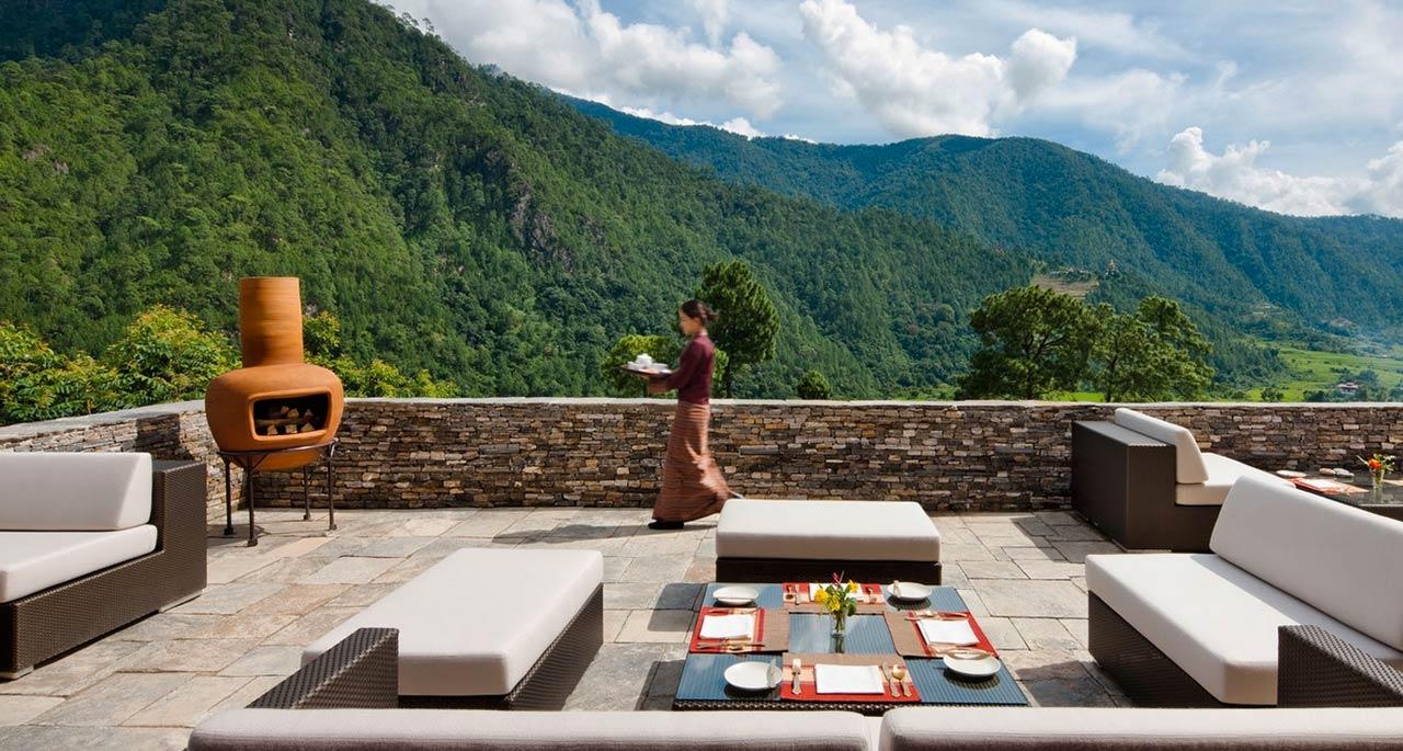 Uma by Como, Punakha, terrace