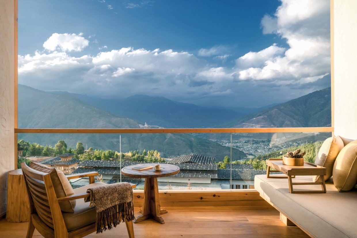 Six Senses, Thimphu Lodge, Suite balcony